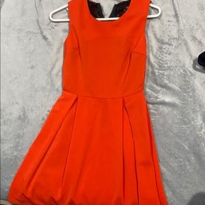 Blood orange mid dress